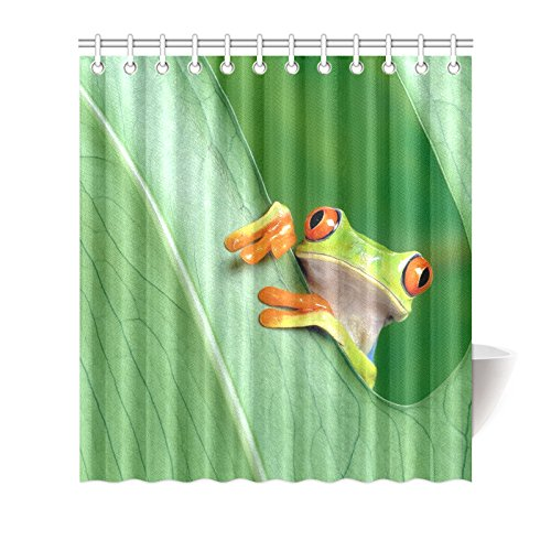 custom-frog1-shower-curtain-60w-x-72h-inches-waterproof-polyester-fabric-one-side-printing-12-holes
