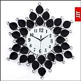 JJTYY Reloj de estilo europeo forja jardín creativo pared relojes/mural