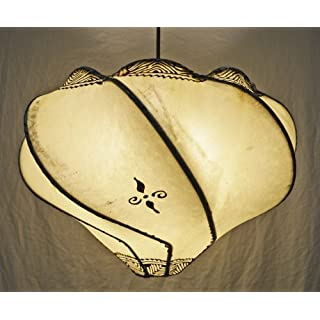 Ceiling Moroccan Henna Lampshade - Ball Cream - 35 CM