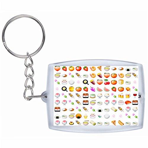 """Schlüsselanhänger """"Obst Gemüse Vegan Vegetarische Smileys"""" Rucksackanhänger, Taschenanhänger, Keyring, Emoji, Smiley, Exklusiv"""