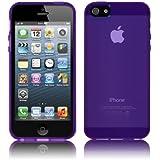 PrimaCase - Coque pour Apple iPhone 5 / 5s en TPU Silicone Semi-Transparent - Violet