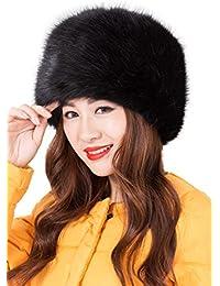 Cappello Pelliccia Sintetica Rotondo Cappellini Invernali Donna Elegante Comodo Moda Russia Cappello Cosacco di Ecopelliccia Caldo Berretto Pon Pon Regalo di Natale Compleanno – Landove