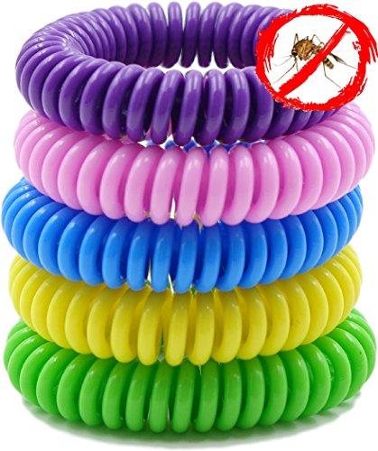 Mückenschutz Armbänder. 10Pack, wasserdicht Armbänder geeignet für Erwachsene und Kinder. Best für Innen- und Außeneinsatz. Hergestellt mit natürlichen pflanzlichen Ölen. Keine Deet.