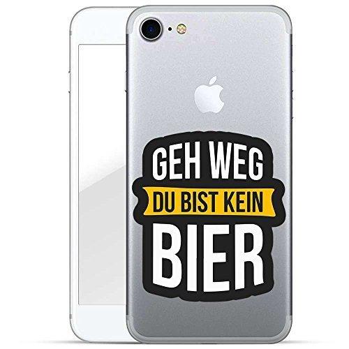 Finoo TPU Handyhülle für dein Iphone 7/8 Made In Germany Hülle mit Motiv und Optimalen Schutz Silikon Tasche Case Cover Schutzhülle für Dein Iphone 7/8-Geh Weg du bist kein Bier -