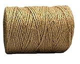 aayu Marke Premium Jute Seil 3-lagig | Jute Gartenschnur | Beste Qualität Einzigartige Dark Garden Bindfäden | unterstützt Ranken, Pflanzen und Gemüse Keramik Produkt 3 Ply 200 Feet goldfarben
