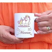 Mug à personnaliser Licorne - tasse à café - cadeau personnalisé - prénom - cadeau anniversaire