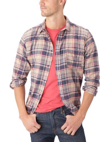 Cheap Monday Herren Casual Kariert Langarm Casual Shirt Blue - Sand Blue Check