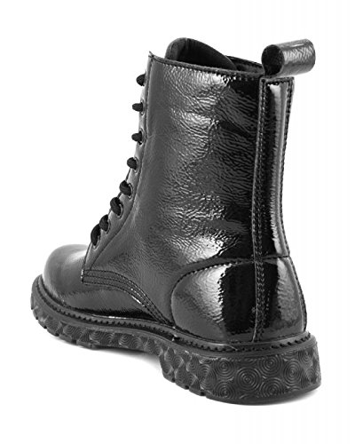 CafÈnoir Anfibi stivaletti nero scarpe donna FH913 37