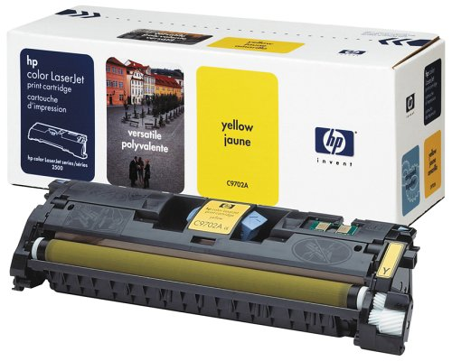 Hewlett Packard C9702A Tonerpatrone, gelb -