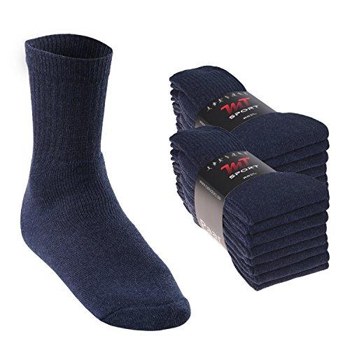 16 Paar MT® Sport- und Freizeitsocken Jeansblau-35-38