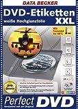 DVD-Etiketten XXL weiße Hochglanzfolie