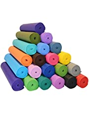 Fitness Mantra Health & Fitness Non-Slip Yoga Mat High Density Anti-Slip, Anti-Tear Texture in Multi Color with Compact and Rubber Lightweight Material, 4 mm Thick Large Size 72 inch x 24 inch