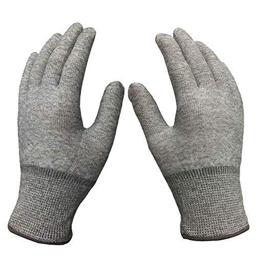 Yyzhx Industrielle Handschuhe Carbon Fiber Streifen antistatische Handschuhe Nylongarn staubfrei dünne Handschuhe Elektronik, Produktion Anti-Statik-Handschuhe -