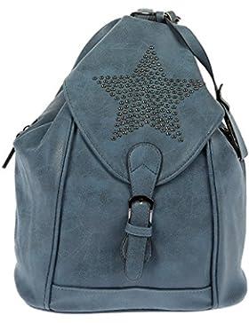 Nili Bags and More Damen Rucksack Stern Handtasche Shopper Rucksackhandtasche Handtasche Bag