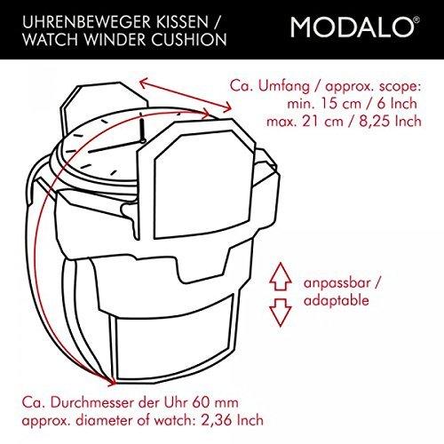 Modalo Unisex Zubehör Uhrenbeweger für 8 Automatikuhren verschiedene Materialien schwarz 3908113 - 5
