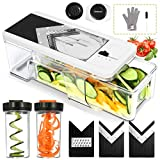 Godmorn Adjustable Vegetables Slicer Mandoline V-blade Mandolin Cutter Shredder With Drawer Container, 5