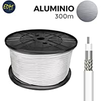 Carrete coaxial aluminio 300 mts edm