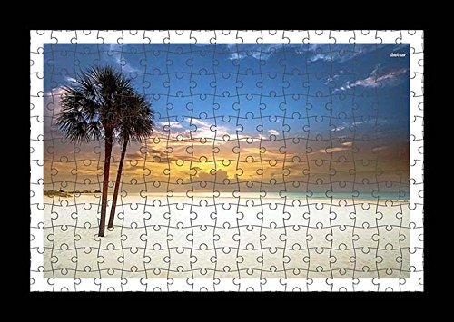 stile-puzzle-pre-assemblato-da-parete-con-stampa-di-palme-su-sandy-beach-by-lisa-loft