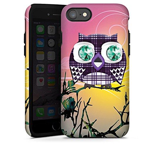 Apple iPhone X Silikon Hülle Case Schutzhülle Eule Eulen Muster Tough Case glänzend