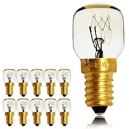10PIECES/Pack SES E14Schraube Gap Pygmy Lampen 300Grad Mikrowelle/Backofen spezifische Night Leuchtmittel, E14 15.00W 240.00V -