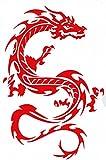 Drache rot Drachen Drogo Sticker Aufkleber Folie 1 Blatt 270 mm x 180 mm wetterfest