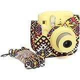 CAIUL Protecteur Cuir PU Housse pour Fujifilm Instax Mini 8 / 8+ Appareil Photo (Bohémien)