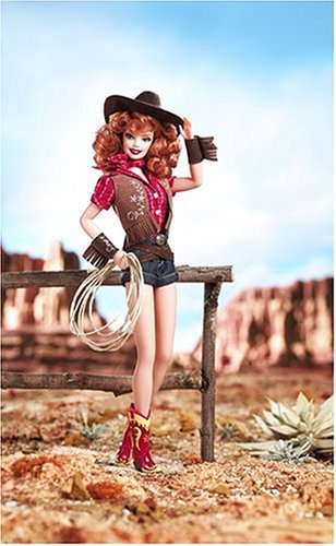 barbie-way-out-west-poupee-rousse-redhead-western-sexy-pin-up-girls-collection-2005-short-jean-chape