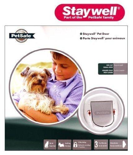 Staywell - Puerta 4 modos para mascotas perro pequeño gato grande con