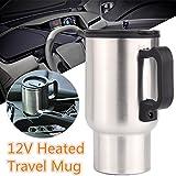 Mug bouilloire électrique 12V pour voiture et camping-car, en acier inoxydable,...
