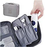 House of Quirk Travel Cosmetic Organizer Storage Pouch - Grey