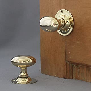 Edwardian Brass Oval Door Knobs