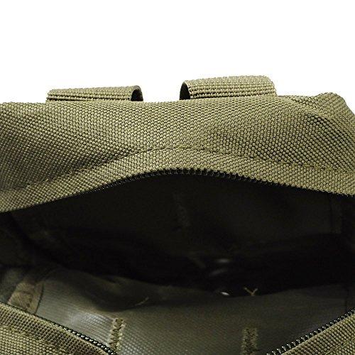 Airsson Tactical Molle Tasche Beutel EDC Bag Kompaktes Wasser-Resistant Utility Gadget Hanging Waist Satteltasche Olive Green