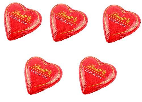 5 cuori di cioccolata lindt per san valentino