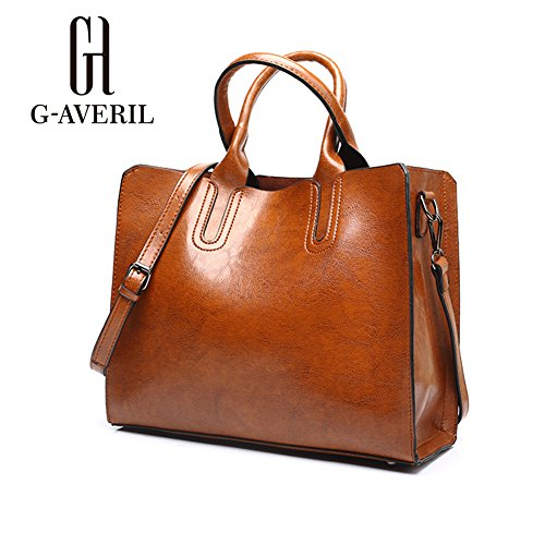 G-AVERIL, Borsa a mano donna Marrone Brown Brown