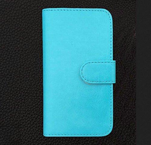 Prevoa ® 丨Flip PU Hülle Case Schutzhülle Tasche für DOOGEE HOMTOM HT6 5.5 Zoll 4G LTE Smartphone - (Blau)