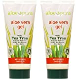 (2er BUNDLE) | Pura Aloe Aloe Vera Gel & Tea Tree 200ml | 200ml - Aloe Pura