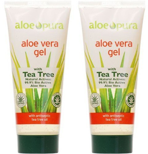 Organic Aloe Vera Gel, paquet de 2 x 200 ml.