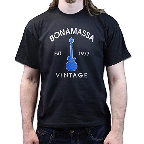 Bonamassa Est.1977 Les Paul Signature Concert Blue T-shirt Schwarz