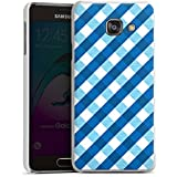 Samsung Galaxy A3 (2016) Housse Étui Protection Coque Carreau Bleu Bleu