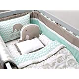 Masilo Organic Cot Bedding Set With Dohar - Elephant Parade