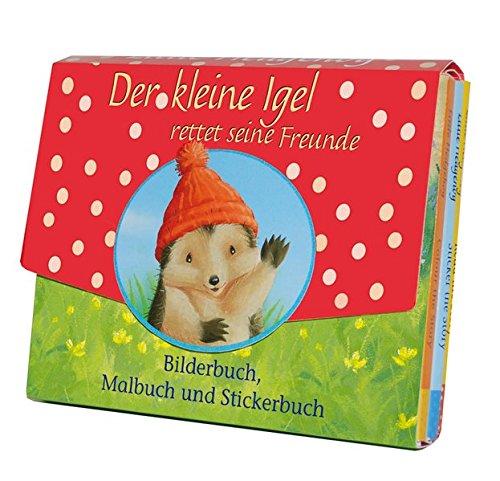 Der kleine Igel rettet seine Freunde: Bilderbuch, Malbuch, Stickerbuch (Freunde Malbuch)