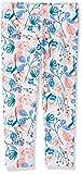 NAME IT Mädchen Nmfvivian AOP Capri H Leggings, Weiß (Bright White Flowers), (Herstellergröße: 110)