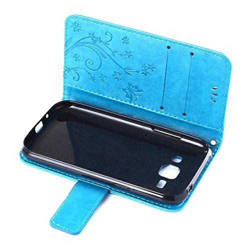 """ARTLU® iPhone 6S Bookstyle Étui Fleur Housse en Cuir Case à rabat pour iPhone 6 Plus / 6S 4.7"""" Coque de protection Portefeuille TPU Case Brun P2"""