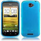wortek TPU Silikon Schutzhülle HTC One S Hellblau