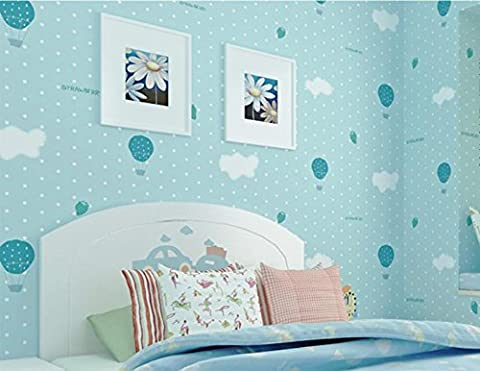 Pink ballons chambre auto-adhésif papier peint chambre salon non-tissé mur autocollants pour enfants 3D stéréoscopique auberge Wallpaper environnement , blue