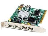 KEC 7002 2+1 USB/2+1 Firewire PCI Hub PC Interface Card/Schnittstellen-Karte (Generalüberholt)