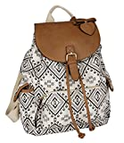 SIX 'Trend' großer Canvas Rucksack, Handtasche,...