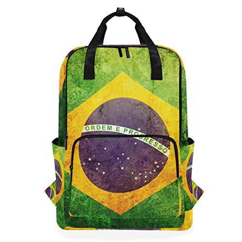 Jansport Geldbörse (Rucksäcke für Schule, Buchtasche, Reisen, Wandern, Camping, Tagesrucksack für Jungen und Mädchen, 26,7 x 14 x 38,1 cm, für 35,6 cm Laptop (Retro-Brasilien-Flagge))