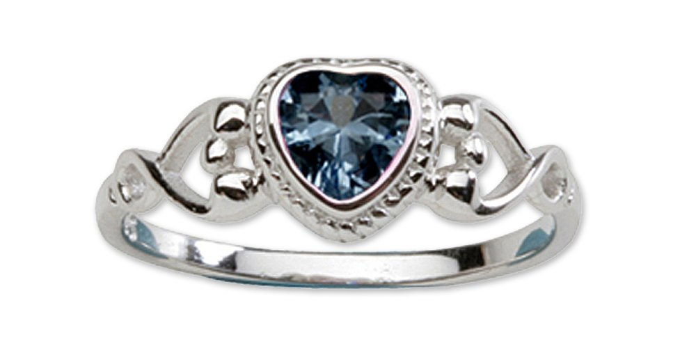 Precious Pieces Girl's Sterling Silver September CZ Birthstone Baby Ring