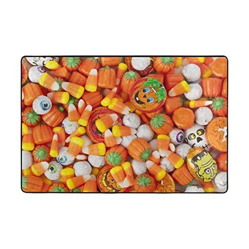 oween Süßigkeiten und lustige Augapfel Fußmatte 15,7 x 23,6, Wohnzimmer Schlafzimmer Küche Badezimmer dekorative einzigartige leichte Bedruckte Teppiche Teppich ()